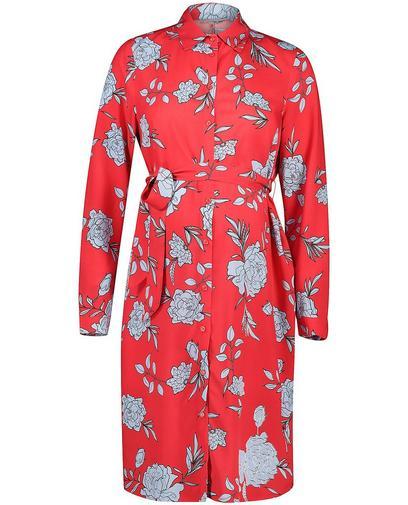 Hemdblusenkleid mit floralem Print